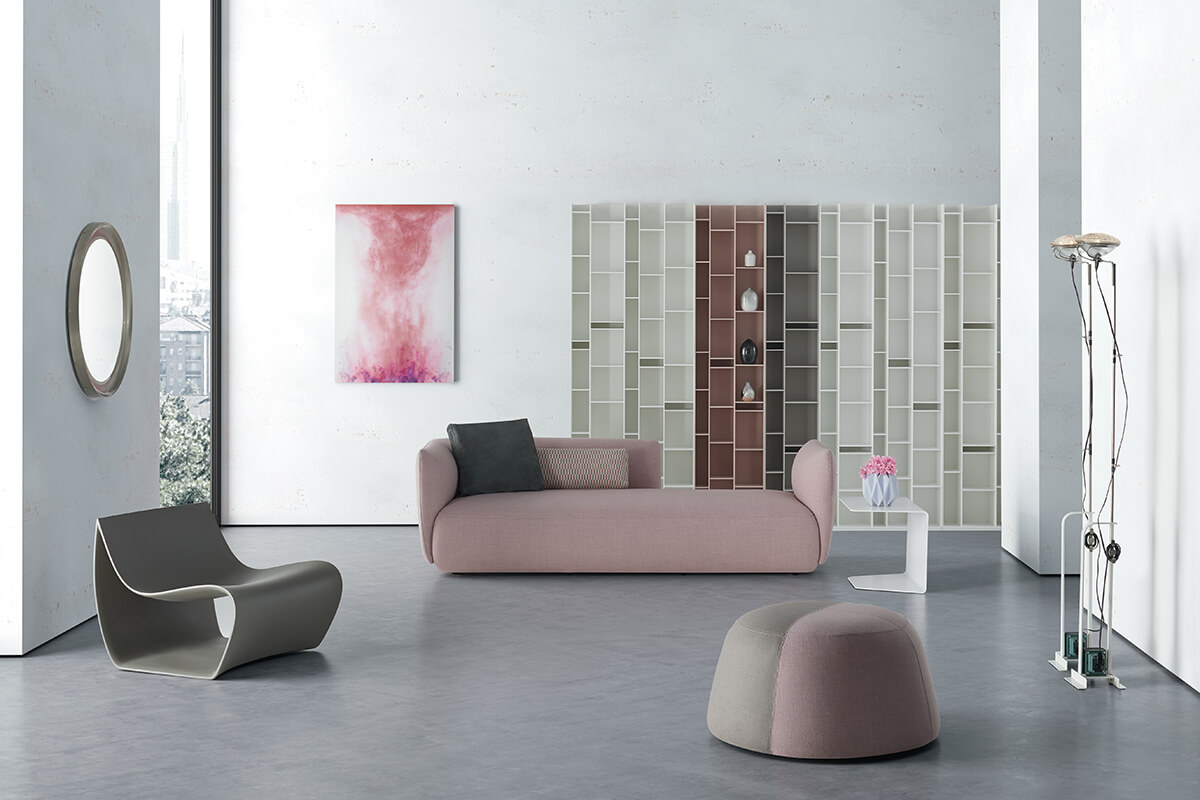 Random. Modular bookcase with a unique design. MDF Italia.