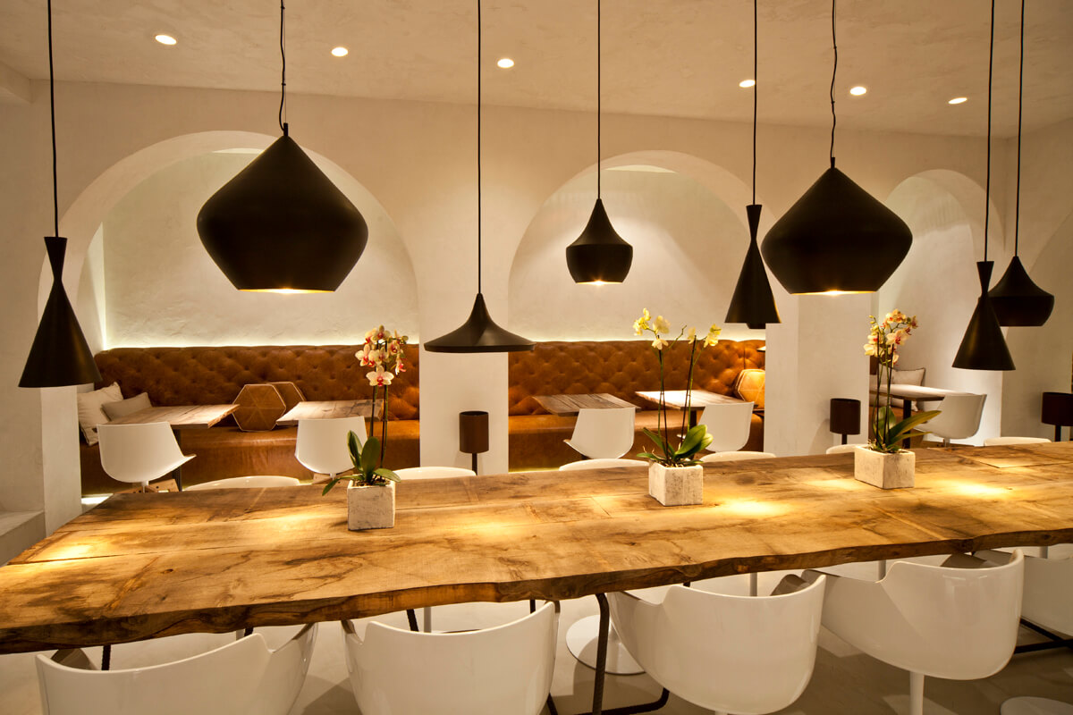 restaurant project commercial modern furniture mdf italia