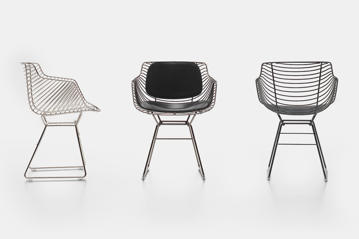 Flow Filo Indoor And Outdoor Chair Made Up Of A Steel