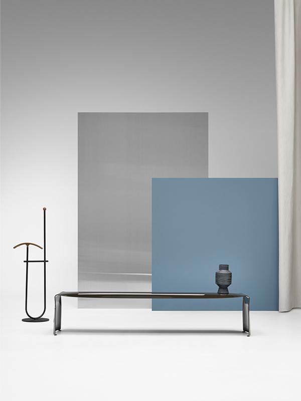 Le Banc Single Colour Bench In Curved Aluminium Mdf Italia
