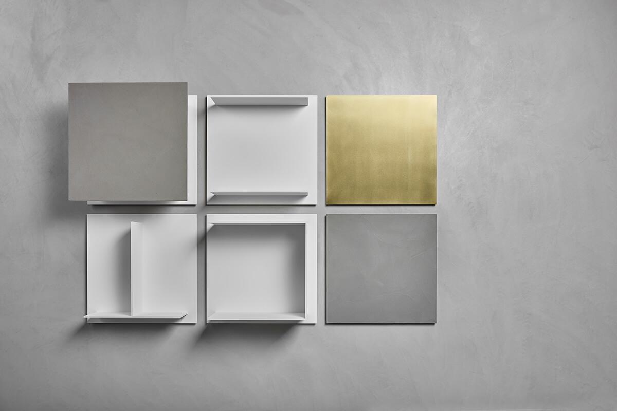 Composizione mensole a muro mensole quadrate di design square