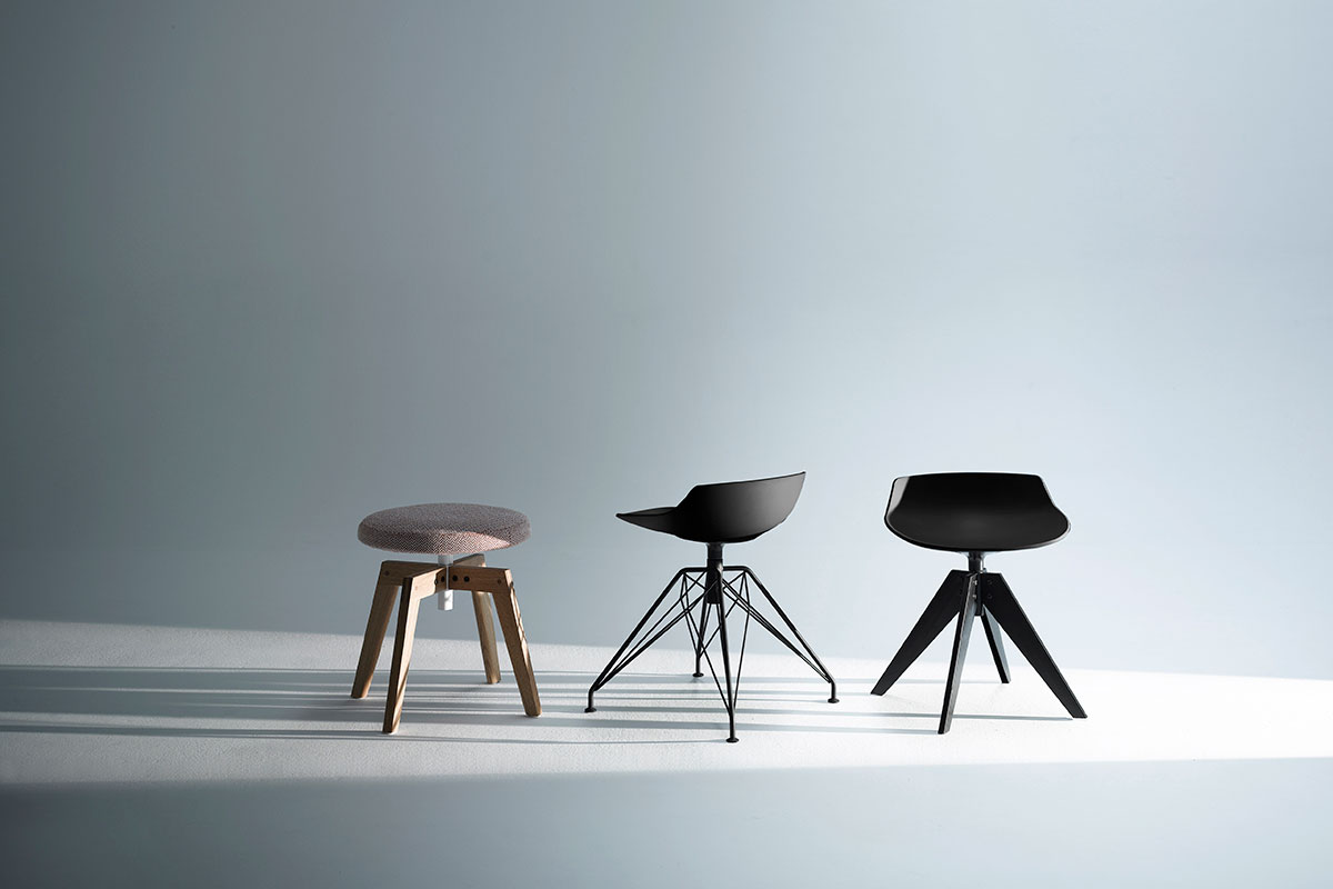 Flow stool. sgabelli alti e bassi dal design moderno. mdf italia.