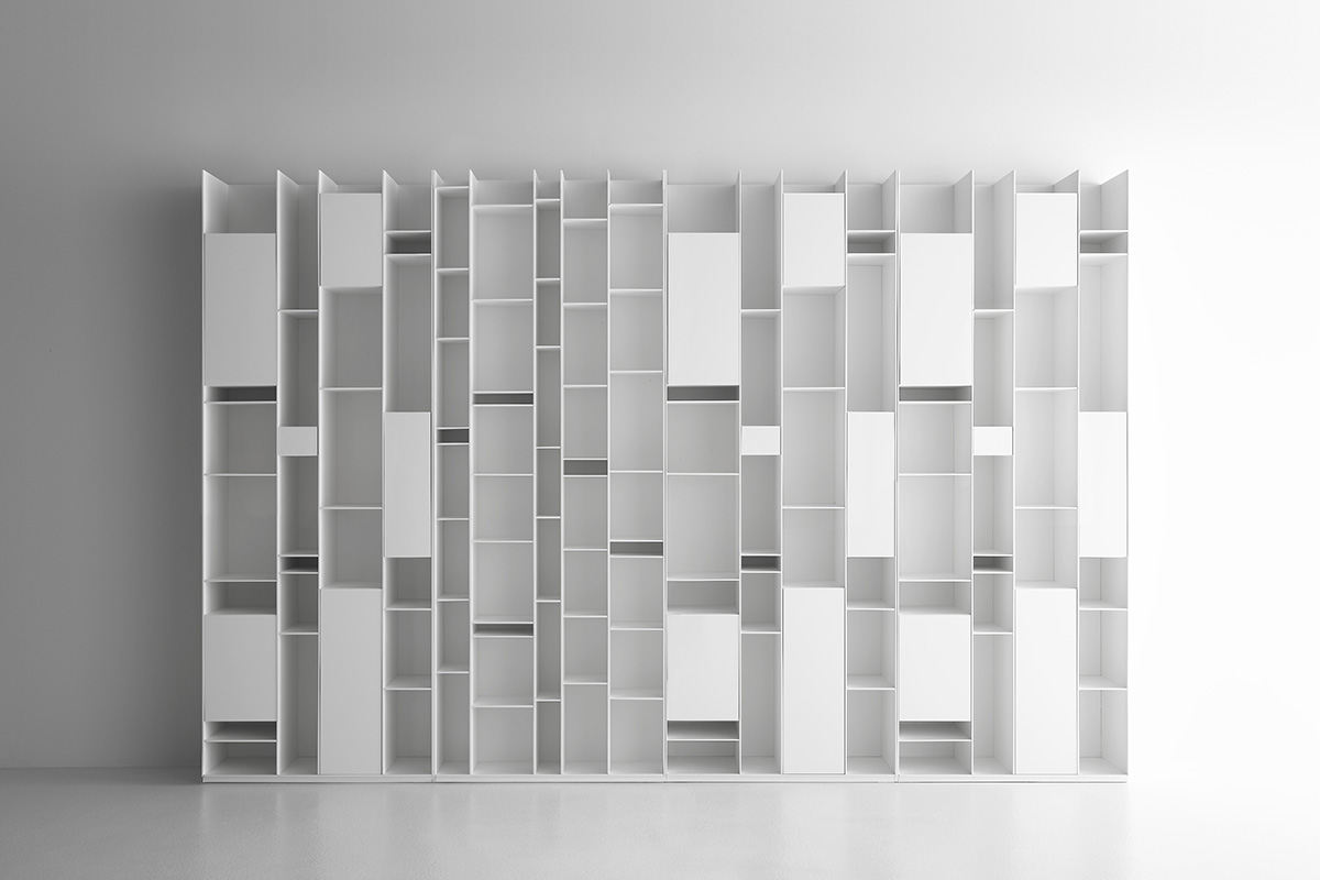 Random Modular Bookcase With A Unique Design Mdf Italia