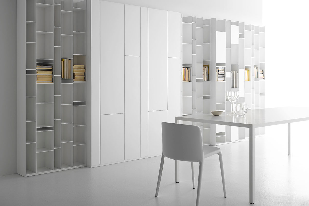 Random cabinet storage unit with closed compartments mdf for Mdf italia spa