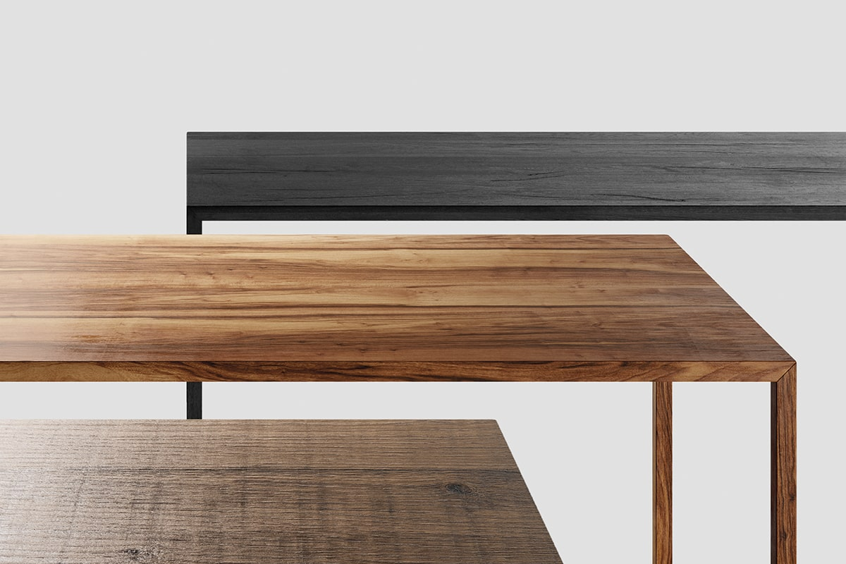 Tense Material Legno Tavolo In Rovere O Noce Dal Design Elegante Per La Casa E L Ufficio Mdf Italia