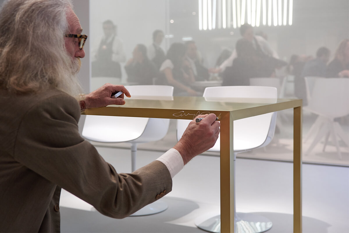 Tense Material A Long Rectangular Designer Table Made Of