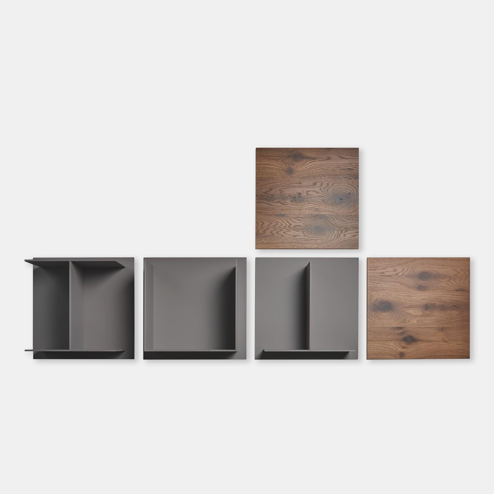 Mensole Quadrate Design.Composizione Mensole A Muro Mensole Quadrate Di Design Square