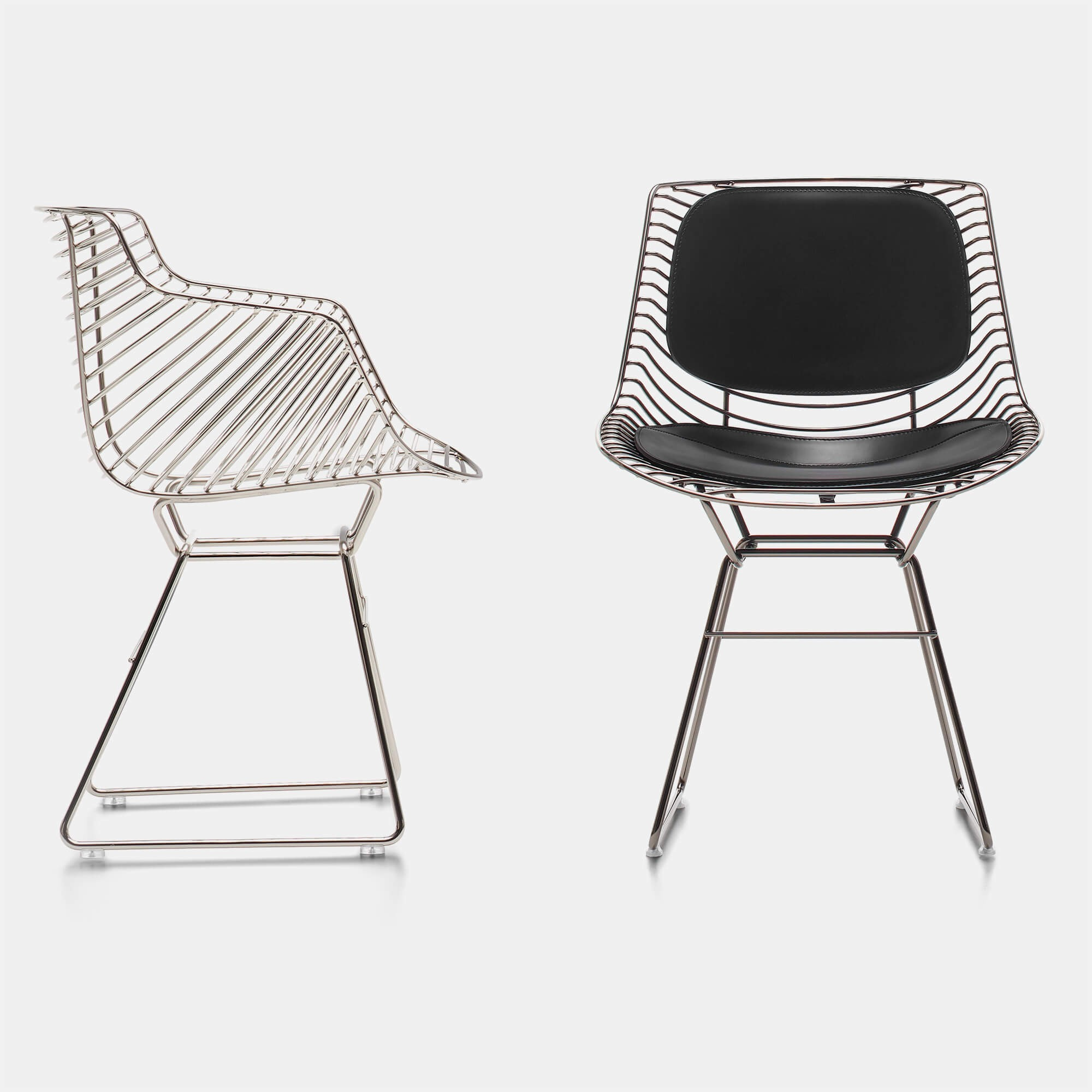 Flow Filo Indoor And Outdoor Chair Made Up Of A Steel Wire Mdf Italia