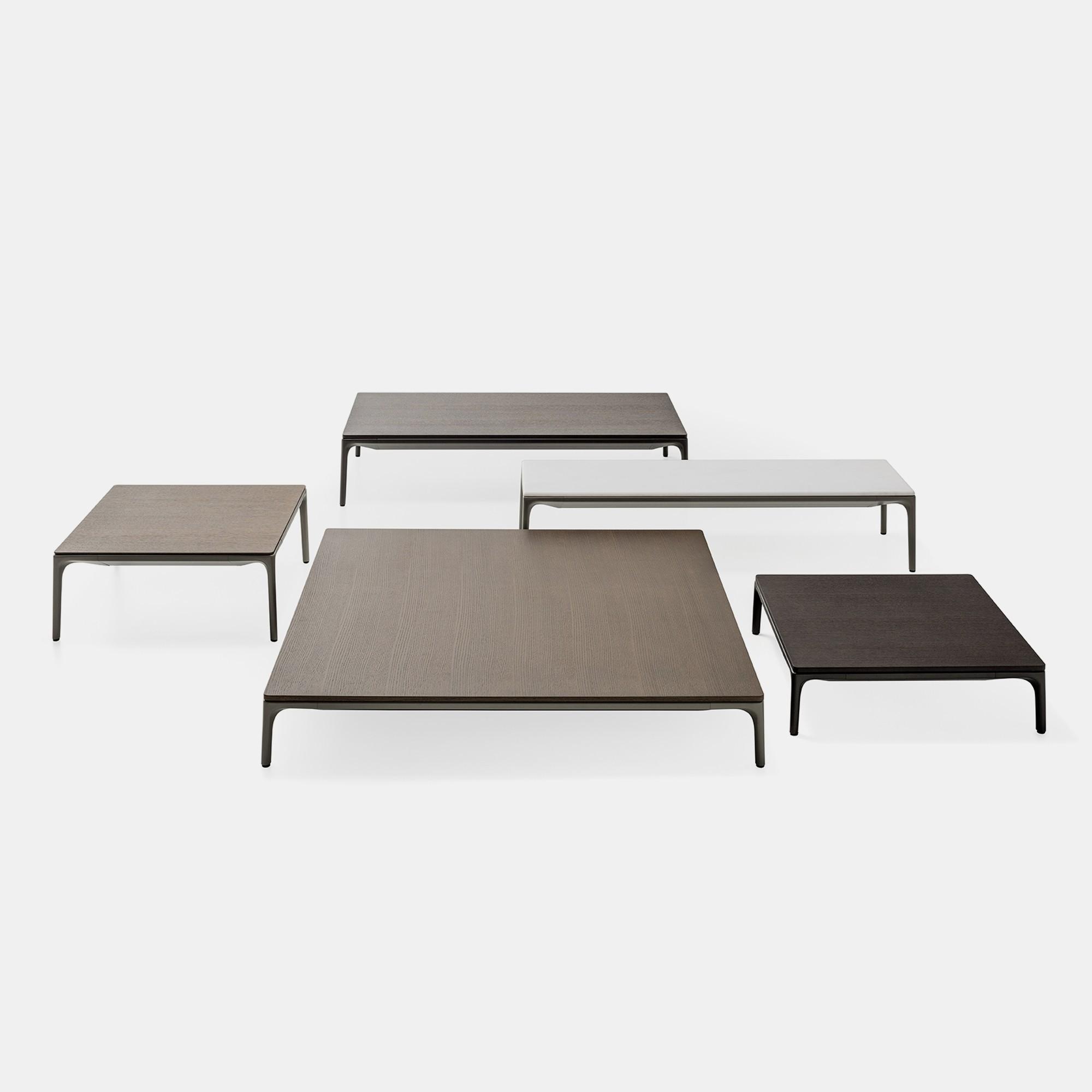 Yale low table tavolini bianchi rettangolari o quadrati for Piani domestici di 2000 piedi quadrati