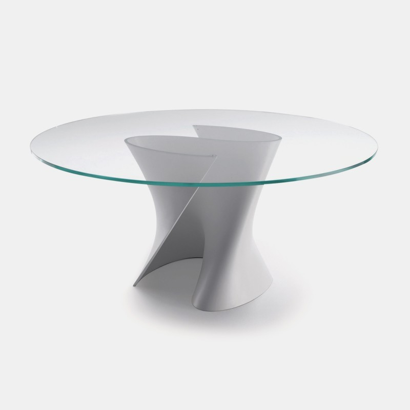 Design Round And Oval Shaped Tables In Cristalplant And Ceramilux. MDF  Italia.