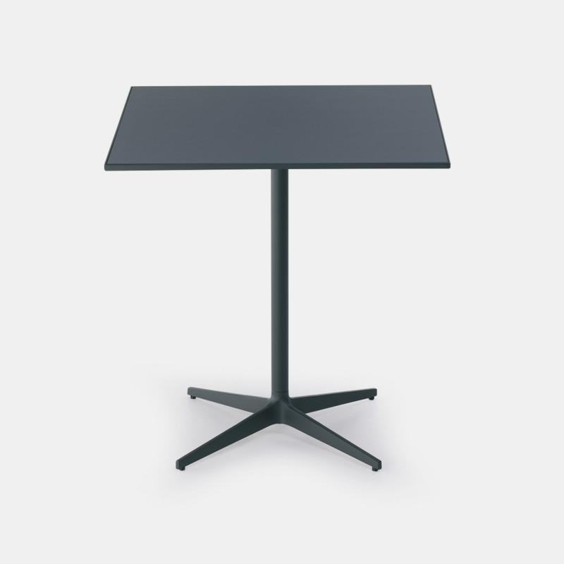Fluoro Coffee Table Square In Matt White With Black Metal: T TABLE. Single Colour Square Coffee Table. MDF Italia