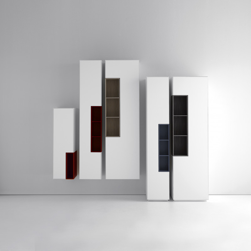 System Of Horizontal And Vertical Storage Units. MDF Italia.