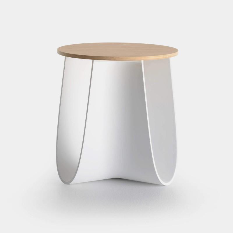 sag modern stool low round shaped table mdf italia