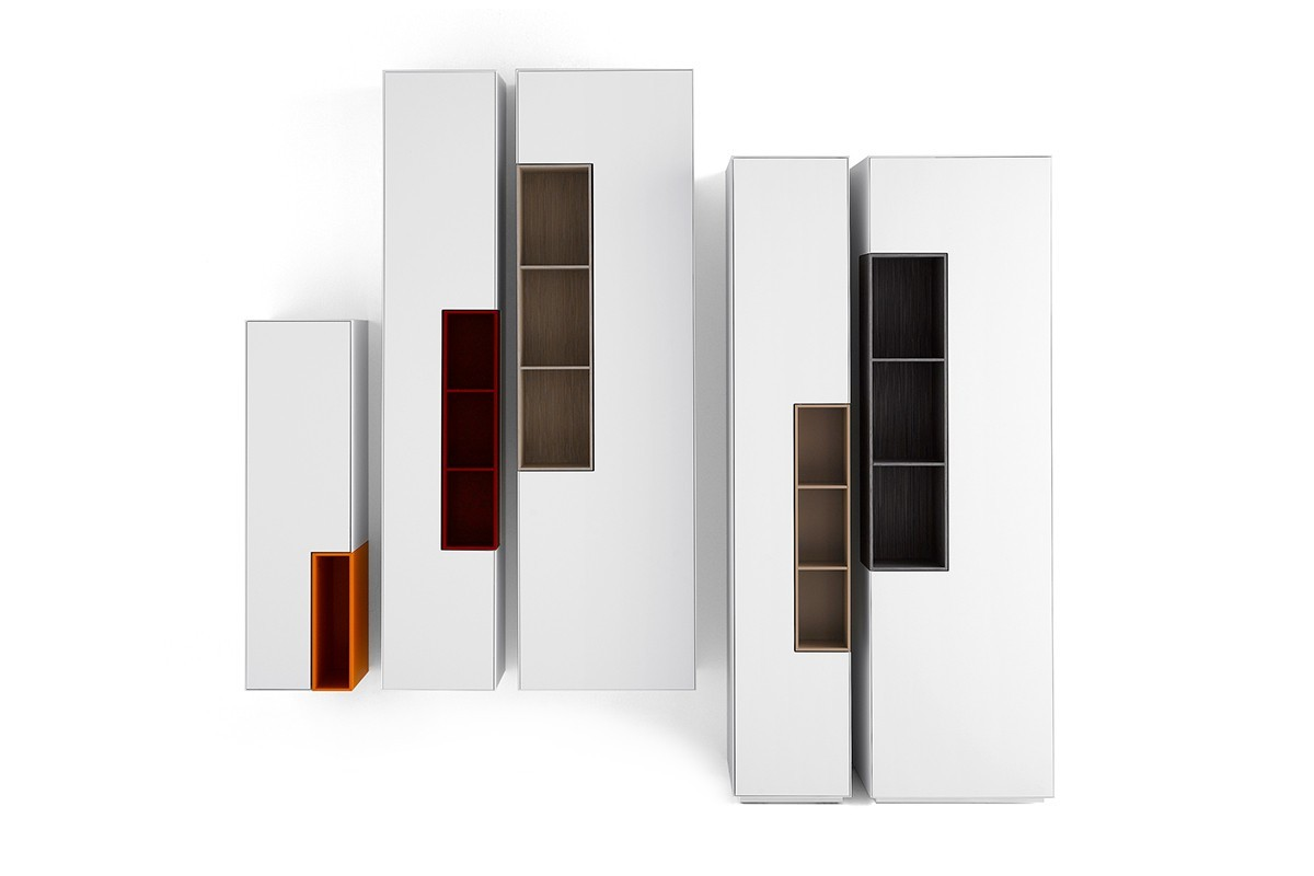 Librerie contenitori cassettiere di design collezione mdf italia