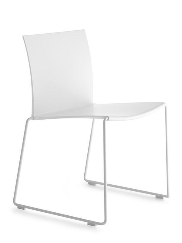 Elegant sedia di design impilabile per ufficio e ambienti - Tavoli design famosi ...